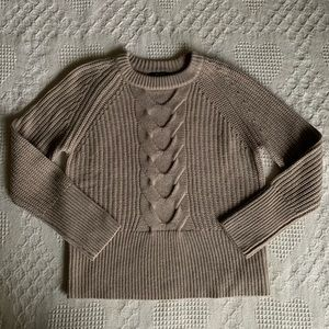 Brass Sweater Women-Owned Brand Chunky Cable Knit